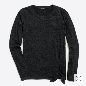 J. Crew long-sleeve side-tie T-shirt